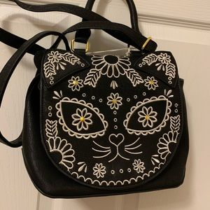 Loungefly Sugar Skull Cat Crossbody Purse